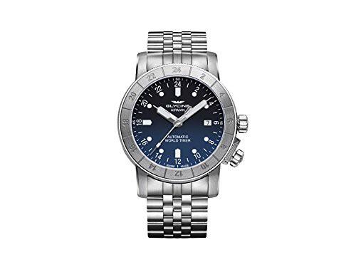 人気ブラドン 【当店1年保証】グリシンGlycine Airman Mens Analog Automatic Watch with Stainless Steel Bracelet G, deco&styleらくだ館 47811e1d