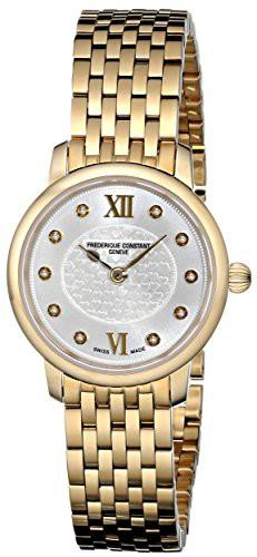 【超ポイントバック祭】 Constant Women's 【当店1年保証】フレデリックコンスタントFrederique Line Slim FC-200WHDS5B-腕時計レディース