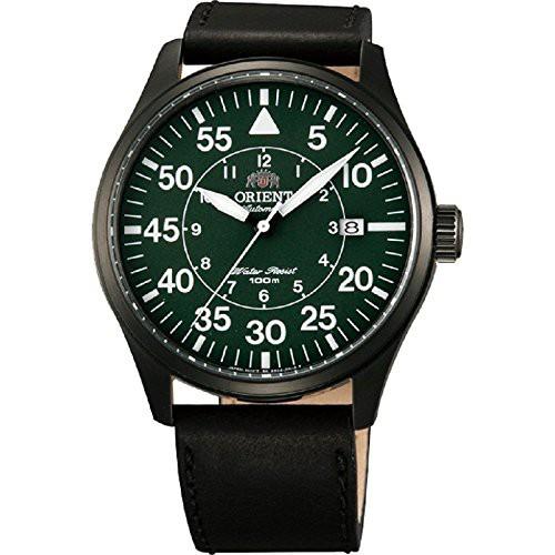 【お気に入り】 【当店1年保証】オリエントOrient 21-Jewel Automatic Aviator Flight Watch with Black Leather Strap, 厨房厨具 45d05024