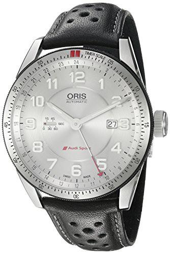 人気沸騰ブラドン 【当店1年保証 Watch】オリスOris Men's Audi Stainless Steel Swiss-Automatic Watch Leather Swiss-Automatic with Leather Calfskin S, 焼津市:00181d78 --- kzdic.de