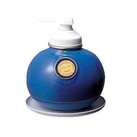 サラヤ ウォシュボン陶器製容器 MF-1 ポンプ付 1L×6本 マリンブルー