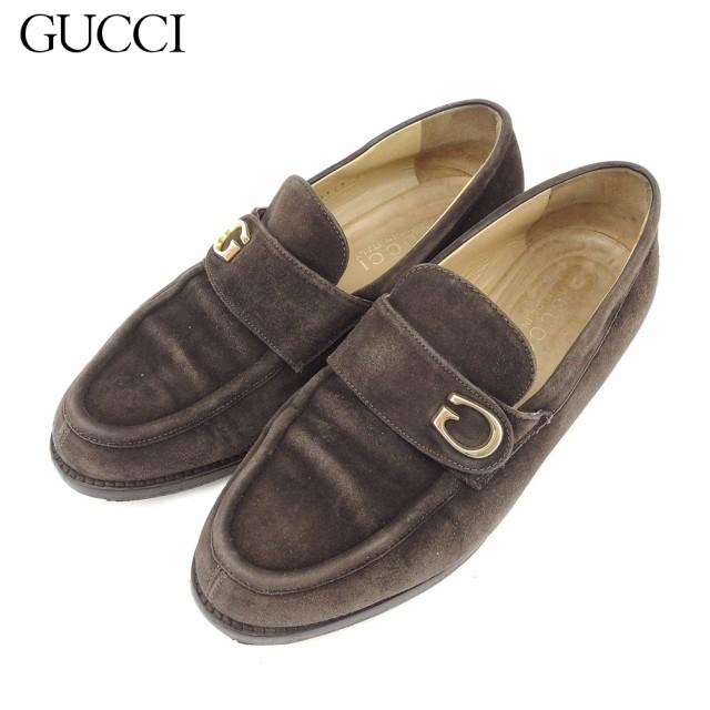 21a89402ea12 グッチ GUCCI ローファー シューズ 靴 レディース Gマーク 【中古】 L2596