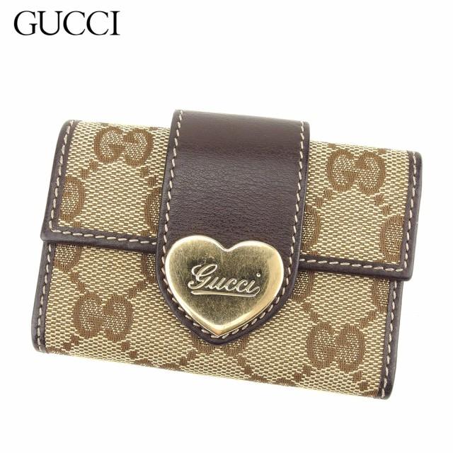 reputable site 8d432 b9a83 グッチ Gucci キーケース 6連キーケース レディース GG柄 【中古】 Q551|au Wowma!(ワウマ)