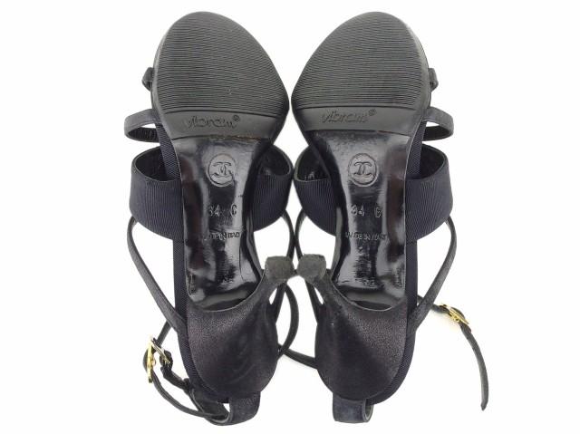 3c638a68fa85 シャネル CHANEL サンダル シューズ 靴 レディース ビジュー 【中古】 T8632