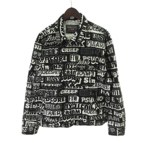 品質は非常に良い 【】シュプリーム SUPREME × HYSTERIC GLAMOUR ヒステリックグラマー 17AW Text Work Jacket ジャケット 黒 M, 愉悦良品館 b6d205d7