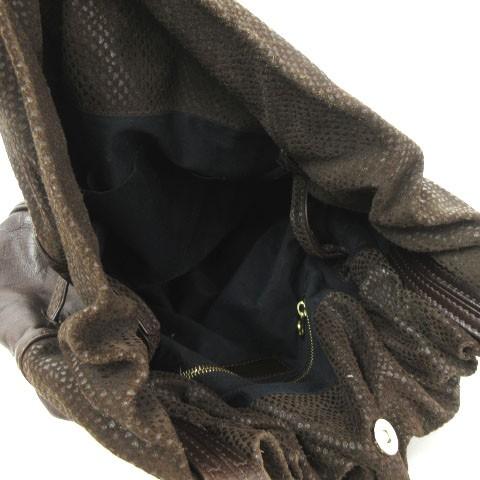 シーバイクロエ SEE BY CHLOE ショルダーバッグ レザー 巾着 03-10-80 茶 ブラウン 鞄 レディース ベクトル【中古】