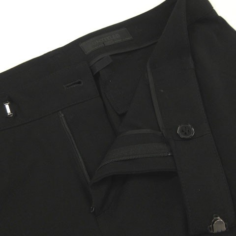 アンタイトル UNTITLED スラックス パンツ ストレッチ 黒 ブラック 2 レディース ベクトル【中古】