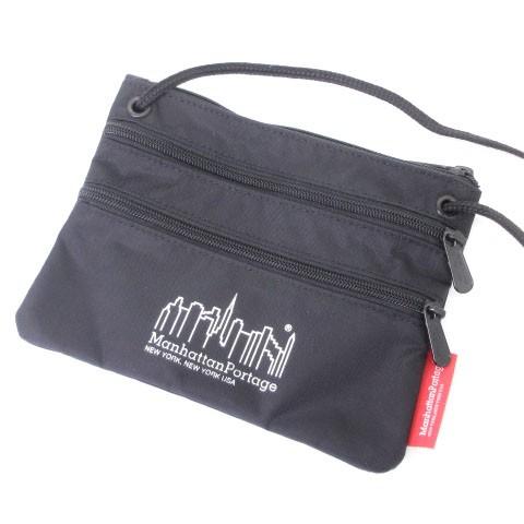 【】マンハッタンポーテージ バッグ サコッシュ ショルダー ポシェット トリプルジップ ポーチ 黒 鞄 ■SM
