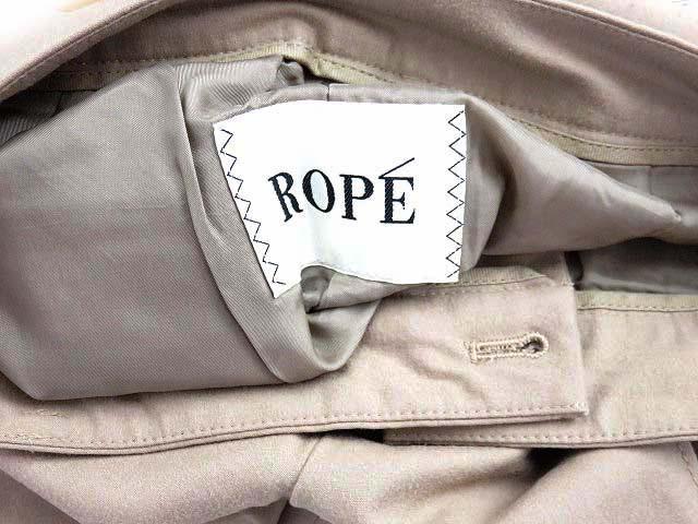 ロペ ROPE パンツ ショート ハーフ ウール ストレッチ 無地 36 茶 春夏 170419 LEK レディース ベクトル【中古】