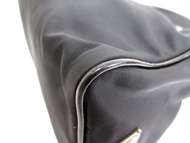 プラダ PRADA ハンドバッグ ショルダー ナイロンキャンバス 黒 0325 レディース ベクトル【中古】
