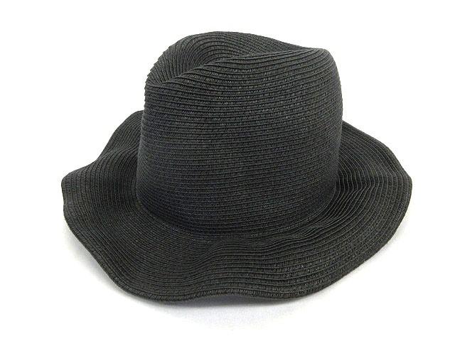 ブロンテ BRONTE ペーパーハット 麦わら帽子 中折れ 黒 ブラック 171025S メンズ レディース ベクトル【中古】