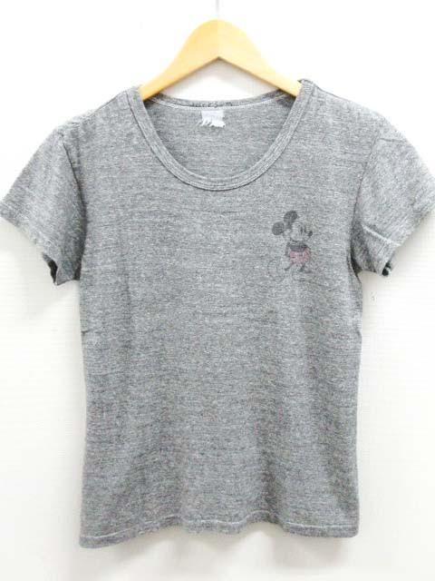 56f81452a7e9 ジャクソンマティス JACKSON MATISSE ディズニー ミッキー Tシャツ カットソー プリント 半袖 グレー XS レディース
