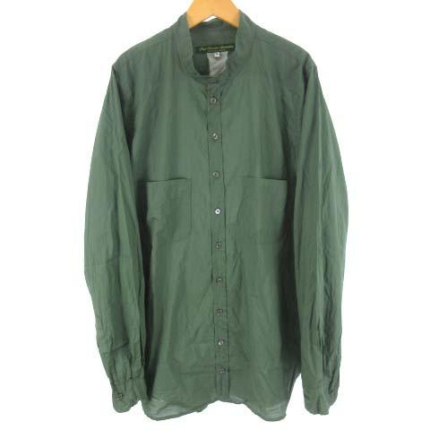 熱い販売 【】ポールハーデン Paul Harnden シャツ バンドカラー コットン 長袖 グリーン 緑 XL ●025 メンズ, ジュエリーツツミ f2c403e8
