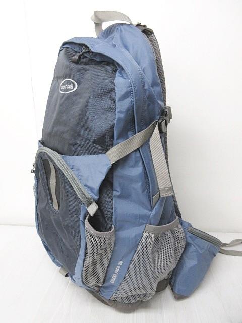 モンベル Montbell ガレナパック30 リュックサック バックパック デイパック ロゴ ブルー グレー 0311 メンズ ベクトル【中古】