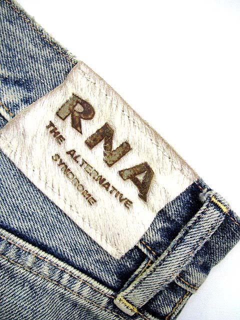 アールエヌエー RNA R2008 ヘビー クラッシュ デニム パンツ ジーンズ スリム ダメージ インディゴ S 170920YK レディース