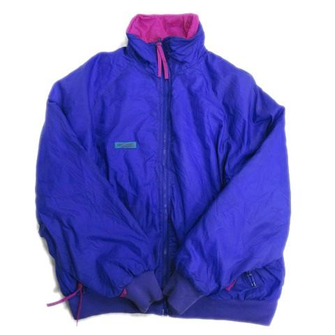 【】コロンビア Columbia 中綿 ジャケット ブルゾン ロゴ リバーシブル アウトドア XL 紫 ピンク レディース▽12