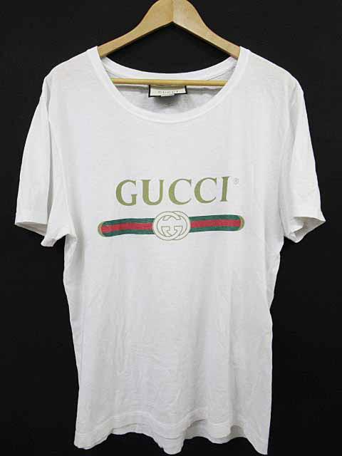 553e6a0d7c39 グッチ GUCCI 18SS ウォッシュロゴ Tシャツ 半袖S白180928☆AA☆190118 ...