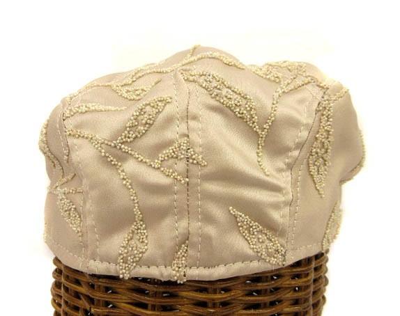 ニューヨークハット NEW YORK HAT ハンチング 帽子 ビーズ U.S.A.製 ベージュ 0119 レディース ベクトル【中古】