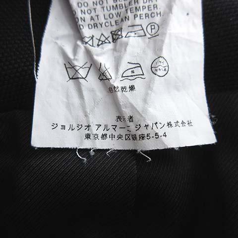finest selection 4cbd3 d232c 【中古】エンポリオアルマーニ EMPORIO ARMANI ロゴバックル スカート ひざ丈 タック 台形 38 黒 ブラック イタリア製 au  Wowma!(ワウマ)