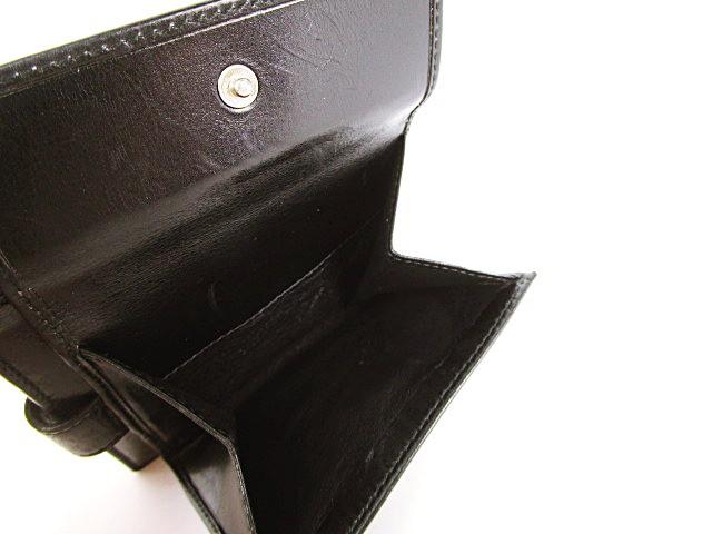 グッチ GUCCI 財布 ウォレット 二つ折り ロゴプレート付き レザー ブラック 黒 メンズ レディース ベクトル【中古】