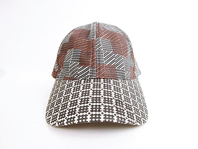 メゾン スコッチ MAISON SCOTCH キャップ 帽子 格子柄 総柄 柄違い バックベルト コットン OS ブラウン 茶 国内正規品 レディース