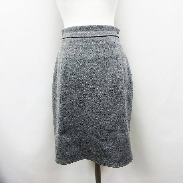 【】ロイヤルパーティー ROYAL PARTY ストレッチ 膝丈 スカート フリーサイズ 灰色 グレー系 ●18 レディース
