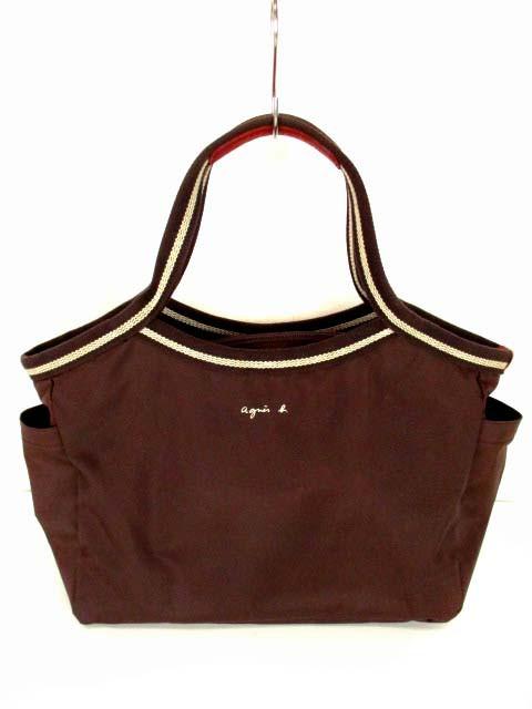 a93a1bb5dace アニエスベー ボヤージュ Agnes b. VOYAGE ハンドバッグ トートバッグ 鞄 カバン ブラウン 茶 レディース