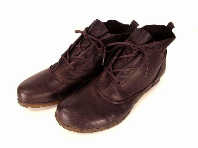【】ヴィアリス vialis ビアリス ショートブーツ シューズ 靴 レザー 革 ブーツ 茶 ブラウン サイズ38 レディース