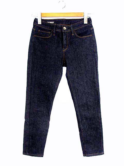 【】無印良品 良品計画 スキニー デニム パンツ ボトムス ジーンズ インディゴ ネイビー 紺 22 (56cm) レディース