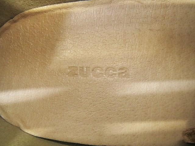 カバンドズッカ CABANE de zucca ショートブーツ エルク レザー ラバーソール モカシン L 24cm 24.5cm 茶 ブラウン C89437 レディース