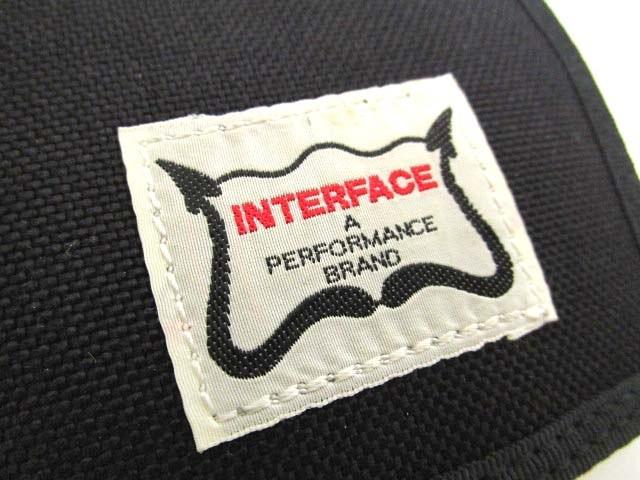 インターフェイス INTERFACE 二つ折り マネークリップ 札入れ 財布 &ピンバッジセット メンズ ウォレット 黒 ブラック B85306 メンズ