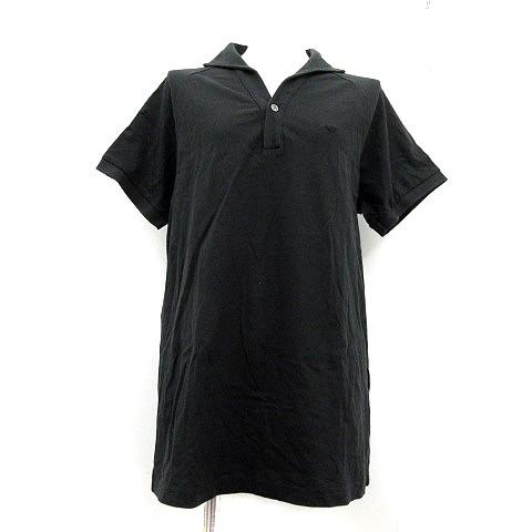 【】エンポリオアルマーニ EMPORIO ARMANI ポロシャツ カットソー 半袖 M 黒 ブラック /AD24 レディース