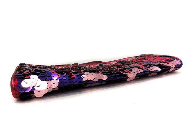 ミュウミュウ miumiu クラッチバッグ ポーチ スパンコール ピンク 紫 /KH レディース ベクトル【中古】
