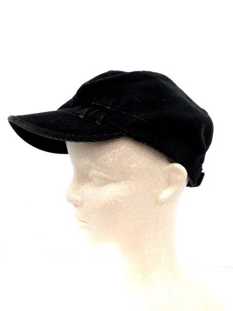 リップヴァンウィンクル RIPVANWINKLE ラカル Racal 帽子 ワークキャップ キャスケット コーデュロイ F 黒 /YM メンズ ベクトル【中古】