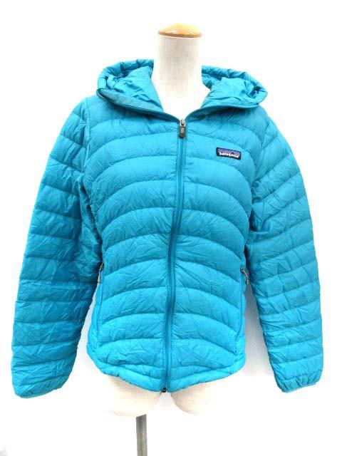 パタゴニア ダウンジャケット ウィメンズダウンセーターフーディ W\u0027s Down Sweater Full,Zip Hoody S 水色 レディース  ベクトル【中古】の通販はWowma!