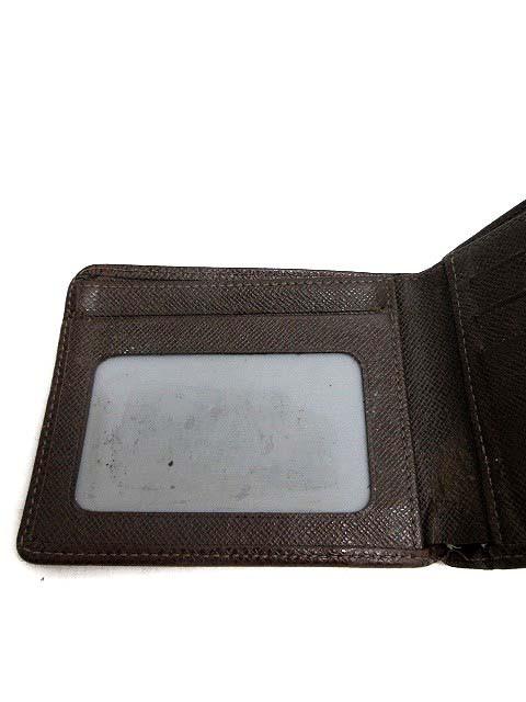 ルイヴィトン LOUIS VUITTON 財布 お札入れ 二つ折り タイガ ポルトビエ 9カルトクレディ ブラウン M30474 /TU ■SB メンズ