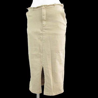 【】ドゥーズィエムクラス DEUXIEME CLASSE スカート タイト ペンシル ハイストレッチ ベージュ 34 レディース