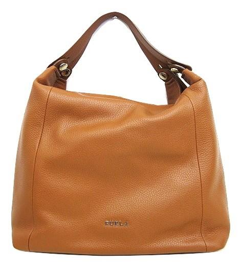 acfb46a02f30 フルラ FURLA エリザベス レザーハンドバッグ ブラウン トートバッグ A4サイズ 鞄 茶×白 レディース