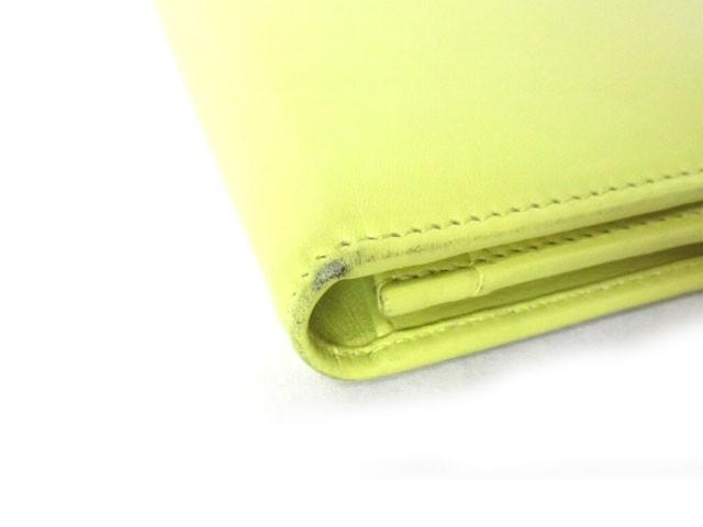 ブルガリ BVLGARI 長財布 フラップ ロゴ バー 小銭入れあり イエロー 黄 箱付 レディース ベクトル【中古】