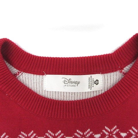 ディズニー Disney ディズニーストア DisneySTORE ニット セーター ノルディック キャラクター 赤 size L 180106 レディース