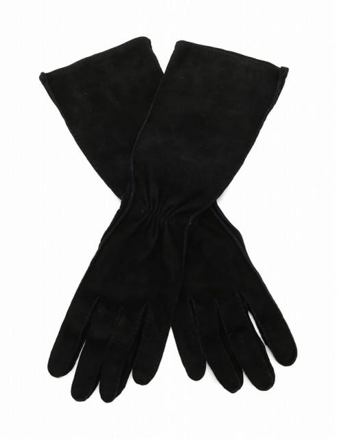 5e061cf66cb9 エルメス HERMES グローブ 手袋 黒 ブラック 小物 スエード 箱付き レディース ベクトル【中古】