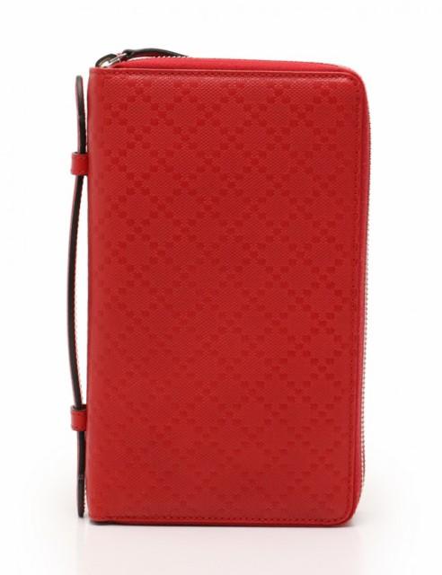 d3f5076c16f9 グッチ GUCCI 長財布 トラベルケース マルチケース ディアマンテ 赤 小物 レザー 336298 ラウンドファスナー レディー
