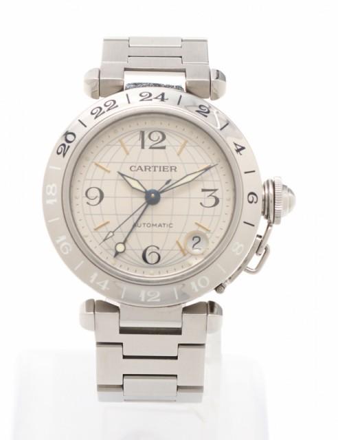 驚きの値段 【】カルティエ Cartier 腕時計 パシャC メリディアン レディース シルバー 2377 SS シルバー文字盤 レディース, 腕時計FAN 9d0ec161