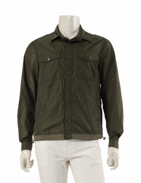 高品質の激安 【】モンクレール MONCLER シャツジャケット カーキ 2 アウター ワンポイント M 40006 ナイロン TRIONPHE メンズ, マイハート 2af0f6e2