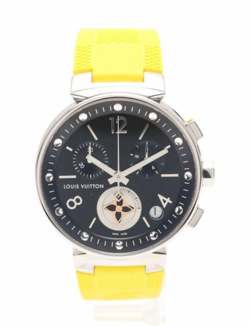 日本最大の 【】ルイヴィトン ラバー LOUIS SS VUITTON シルバー メンズ 腕時計 クオーツ タンブール ムーンスターGM シルバー 黄 Q8D11 SS ラバー メンズ, カシハラシ:a85df943 --- kzdic.de