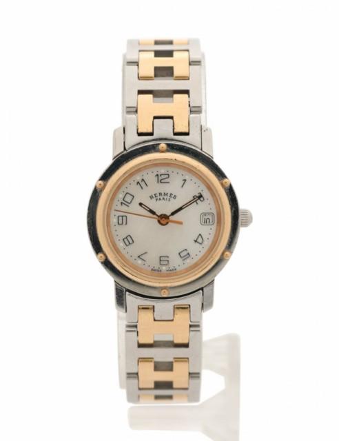 品質満点! 【】エルメス HERMES 腕時計 レディース クオーツ クリッパー ナクレ シルバー ゴールド CL4.221 SS・GP, 備長炭グッズのお店豊栄 4da9c9b3