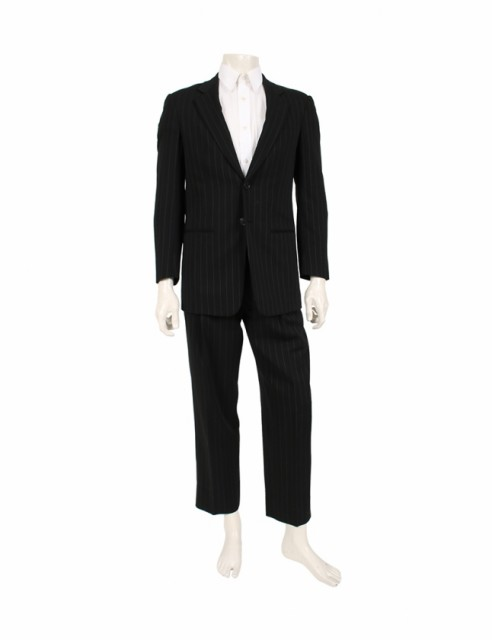 激安特価 ウール スーツ ストライプ 黒 メンズ 46 ARMANI XS 【】ジョルジオアルマーニ GIORGIO-スーツ・フォーマル