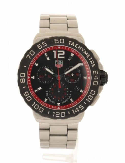 訳あり商品 SS 黒文字盤 TAG クロノグラフ 【】タグホイヤー 腕時計 メンズ HEUER シルバー メンズ CAU1116 フォーミュラー1-腕時計メンズ