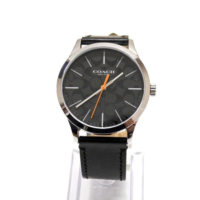 9418c0cbac03 コーチ COACH シグネチャー柄 クオーツ 腕時計 ウォッチ CA.118.2.112.1640 ブラック 黒 SSAW メンズ