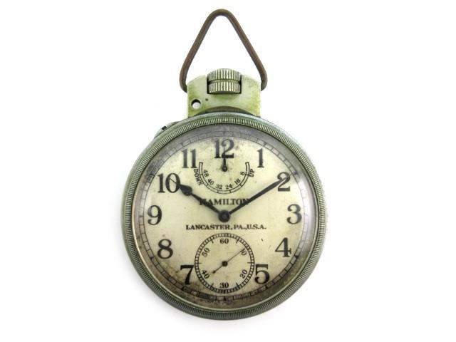 【現金特価】 【】ハミルトン HAMILTON 懐中時計 ウォッチ 手巻き 大型 鉄道時計 クロノメーター LANCASTERPAU.S.A NAVY 直径7cm, SQUAT USED CLOTHING STORE 166a9215